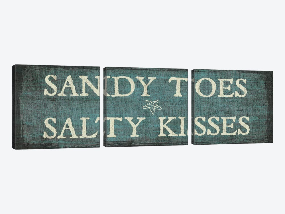 Sandy Toes & Salty Kisses by Erin Clark 3-piece Canvas Art