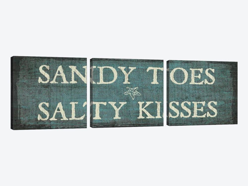 Sandy Toes & Salty Kisses by Erin Clark 3-piece Canvas Art