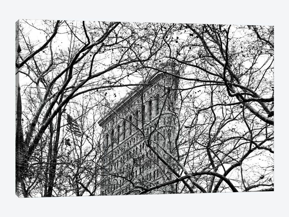 Veiled Flatiron Building in B&W by Erin Clark 1-piece Canvas Print