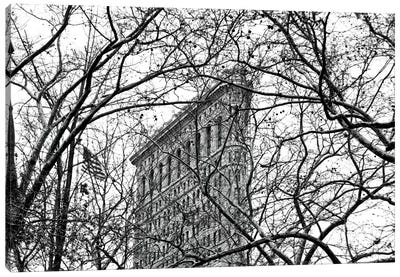 Veiled Flatiron Building in B&W Canvas Print #ECK88