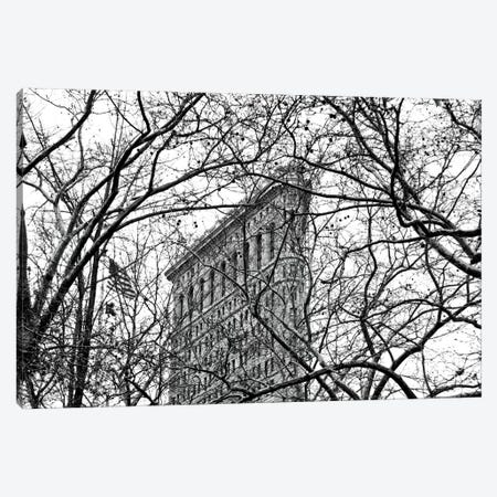 Veiled Flatiron Building in B&W Canvas Print #ECK88} by Erin Clark Canvas Artwork