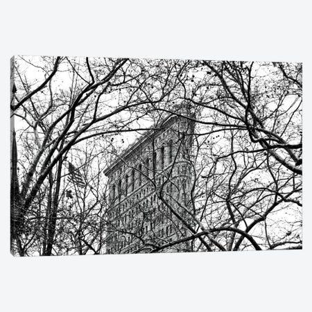 Veiled Flatiron Building in B&W Canvas Print #ECK88} by Erin Clark Canvas Artwork
