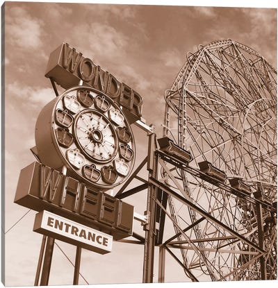 Wonder Wheel Canvas Print #ECK91