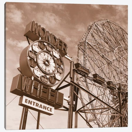 Wonder Wheel Canvas Print #ECK91} by Erin Clark Canvas Print