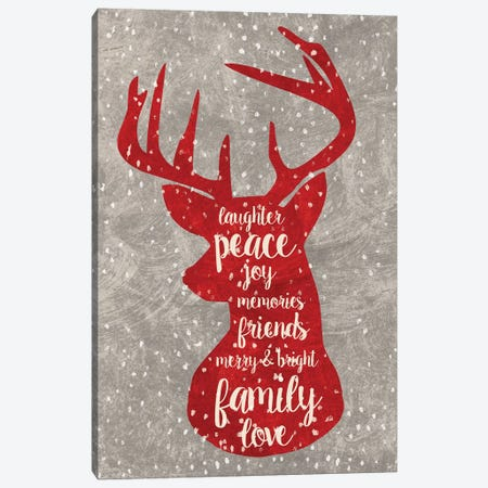 Xmas Deer Canvas Print #ECK94} by Erin Clark Canvas Wall Art