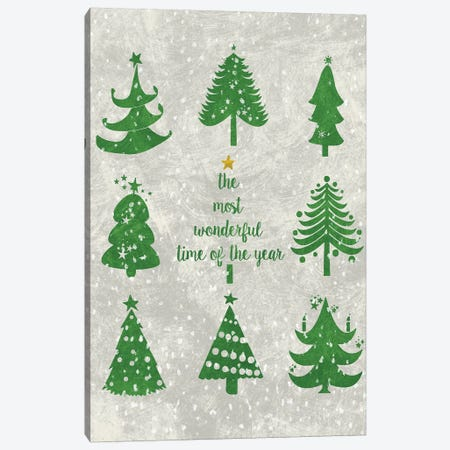 Xmas Trees Canvas Print #ECK95} by Erin Clark Canvas Art