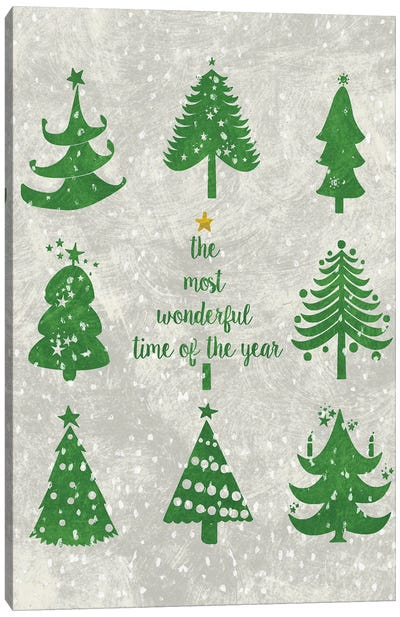Xmas Trees Canvas Art Print