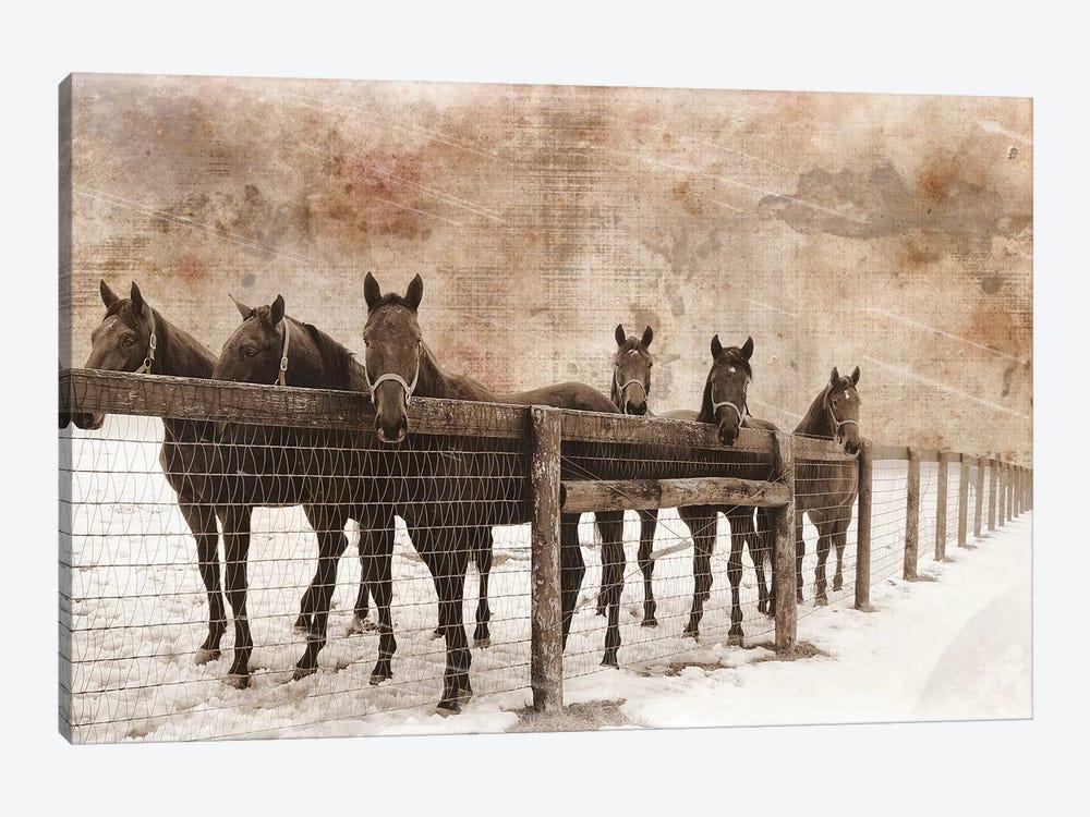 6 Faces by Erin Clark 1-piece Art Print