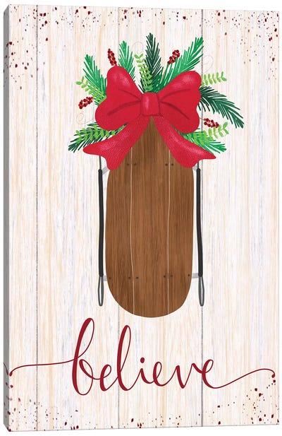 Rustic Holiday IV Canvas Art Print