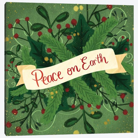 Peace On Earth III 3-Piece Canvas #ECR17} by Emily Cromwell Canvas Art Print