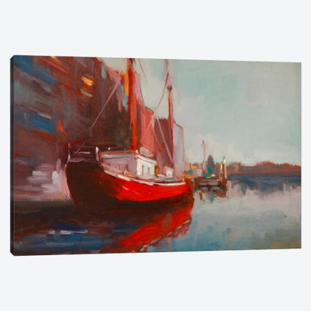 Docked Canvas Print #EDD12} by Eddie Barbini Canvas Print