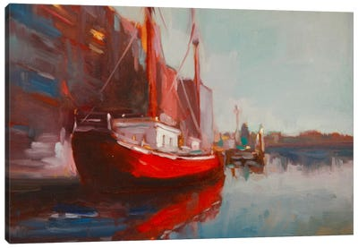Docked Canvas Art Print