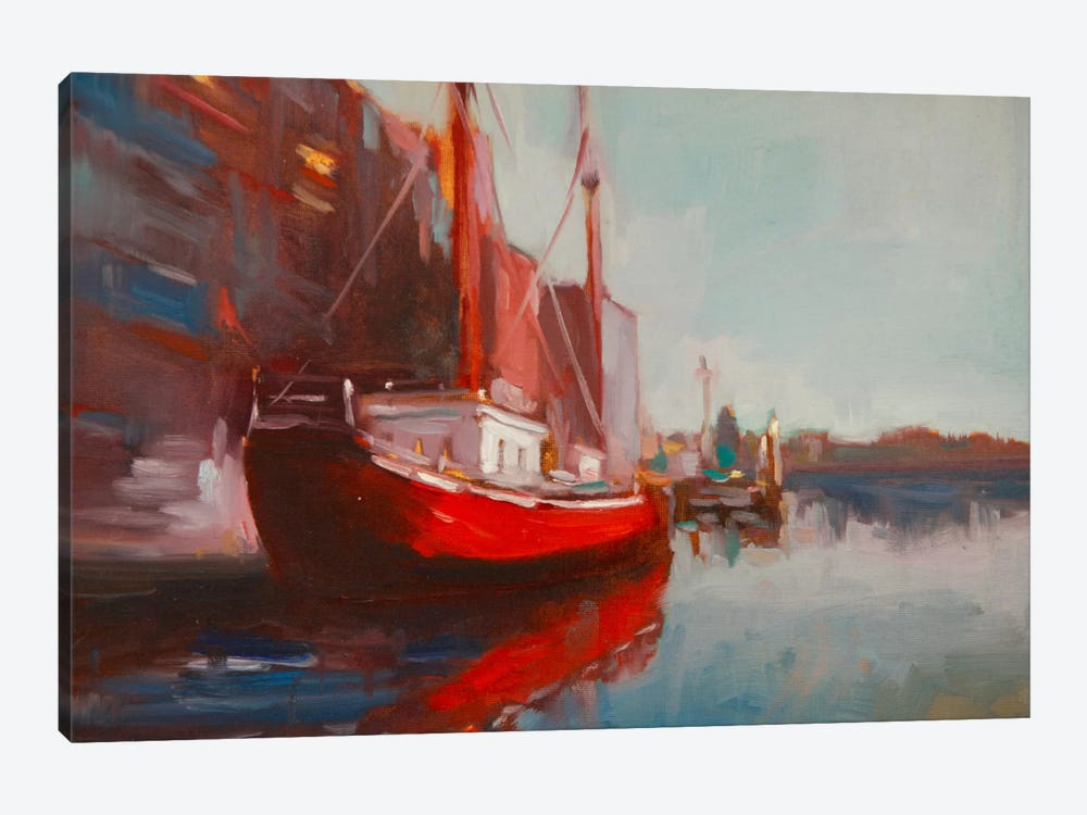 Docked by Eddie Barbini 1-piece Canvas Art