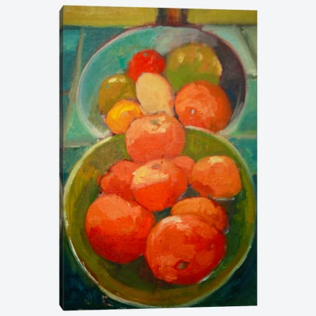 Fruit Bowls Canvas Print #EDD15} by Eddie Barbini Canvas Artwork