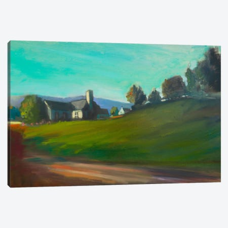 Hillside Home Canvas Print #EDD18} by Eddie Barbini Art Print