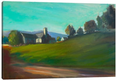 Hillside Home Canvas Art Print