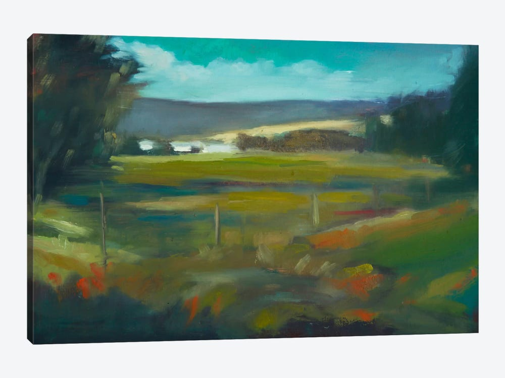 Across The Valley by Eddie Barbini 1-piece Canvas Print