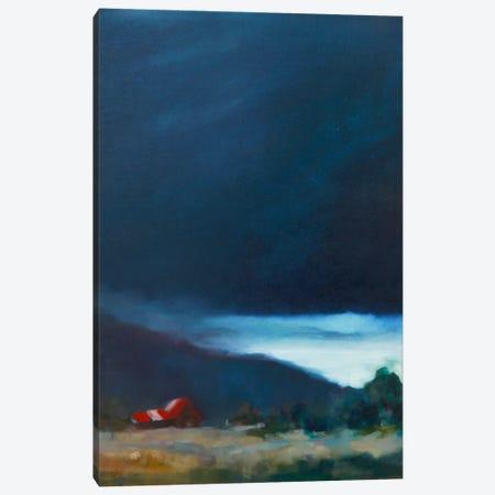 Red Barn Canvas Print #EDD28} by Eddie Barbini Canvas Wall Art