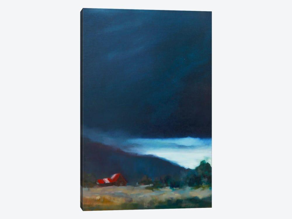 Red Barn by Eddie Barbini 1-piece Canvas Print