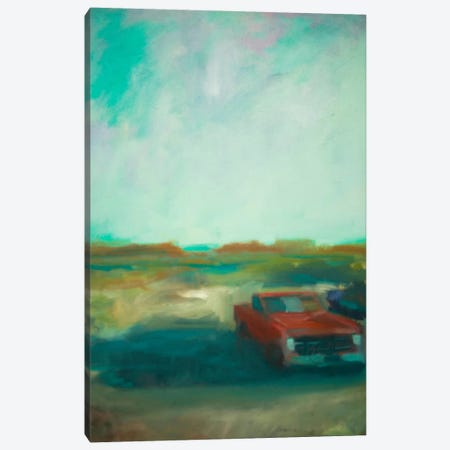 Red Truck Canvas Print #EDD29} by Eddie Barbini Canvas Artwork