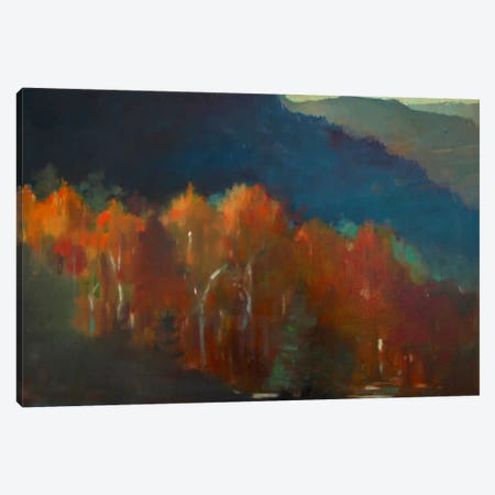 Autumn Forest Canvas Print #EDD3} by Eddie Barbini Art Print