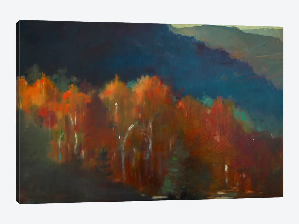 Autumn Forest by Eddie Barbini 1-piece Canvas Print