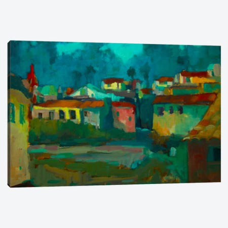 The Village Canvas Print #EDD46} by Eddie Barbini Canvas Art Print