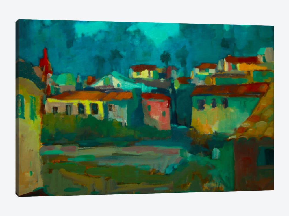 The Village by Eddie Barbini 1-piece Canvas Art Print