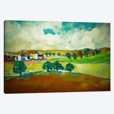 Beyond The Trees Canvas Print #EDD4} by Eddie Barbini Canvas Wall Art