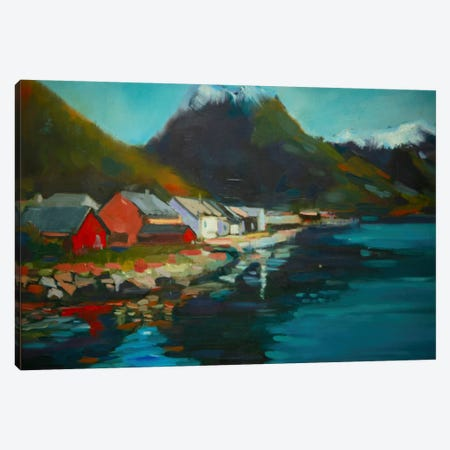 Waterside Canvas Print #EDD54} by Eddie Barbini Canvas Art