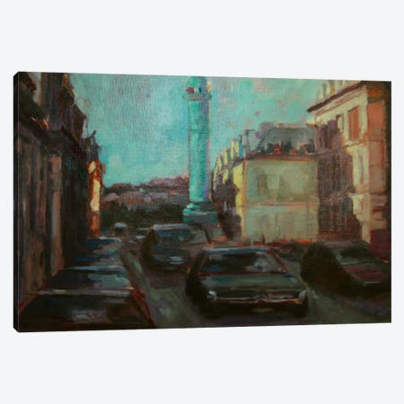 City Street Canvas Print #EDD7} by Eddie Barbini Canvas Art