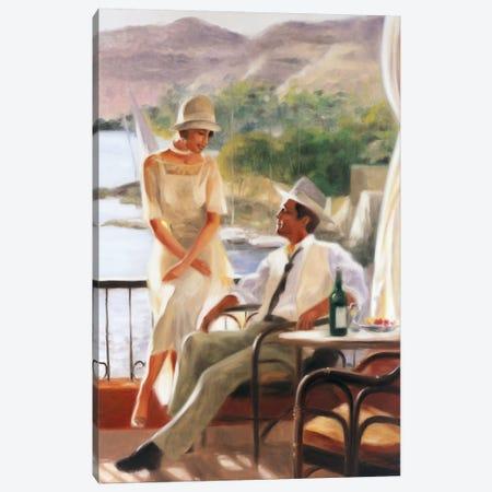 Meeting At The Tea Garden Canvas Print #EDE10} by E Denis Canvas Art