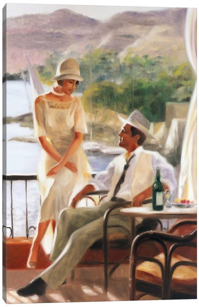 Meeting At The Tea Garden Canvas Art Print