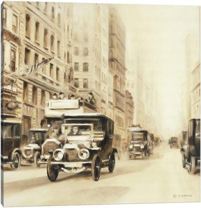 Old Street USA Canvas Art Print