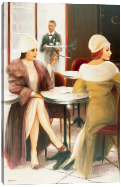 Cafe I Canvas Art Print