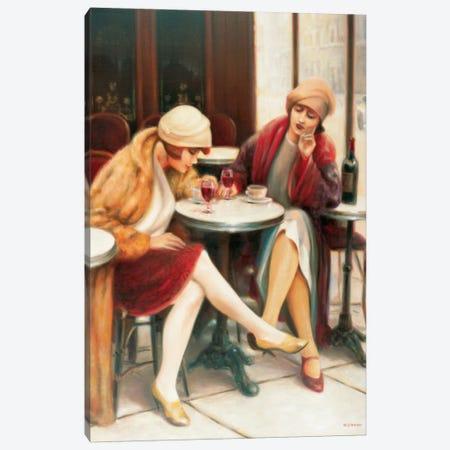 Cafe II Canvas Print #EDE4} by E Denis Art Print