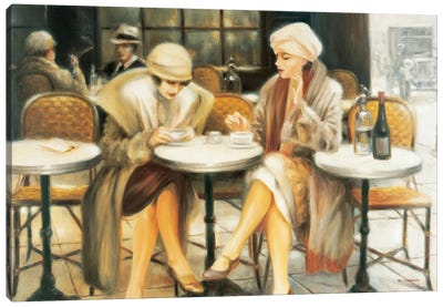 Cafe III Canvas Art Print