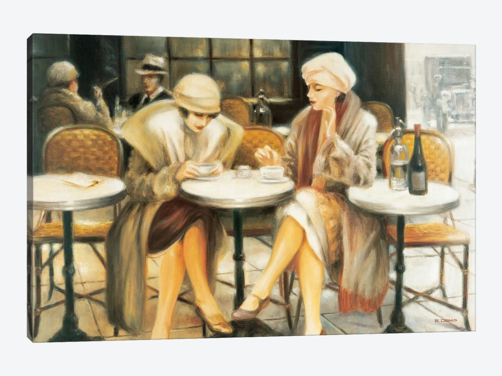 Cafe III by E Denis 1-piece Canvas Art