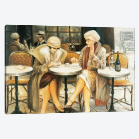 Cafe III Canvas Print #EDE5} by E Denis Art Print