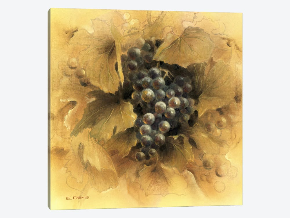 Grapes II 1-piece Canvas Art Print