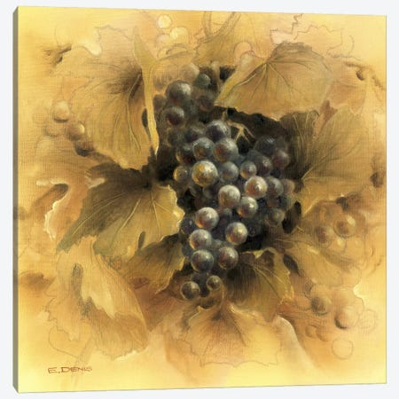 Grapes II Canvas Print #EDE6} by E Denis Art Print