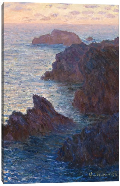 Rocks at Bell-Ile, Port-Domois, 1886 Canvas Art Print