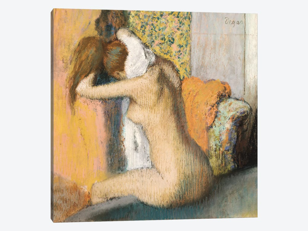 After The Bath by Edgar Degas 1-piece Canvas Wall Art