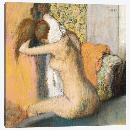 After The Bath Canvas Print #EDG1} by Edgar Degas Canvas Wall Art