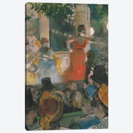Cafe Concert at Les Ambassadeurs, 1876-77  Canvas Print #EDG21} by Edgar Degas Art Print