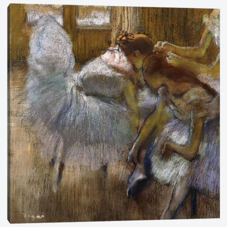 Dancers at Rest, c.1885  Canvas Print #EDG27} by Edgar Degas Canvas Art