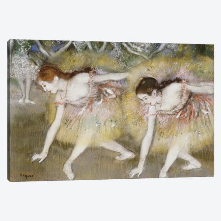 Dancers Bending Down  Canvas Print #EDG28} by Edgar Degas Canvas Print