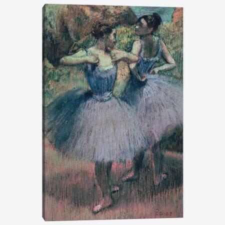Dancers in Violet  Canvas Print #EDG30} by Edgar Degas Canvas Artwork