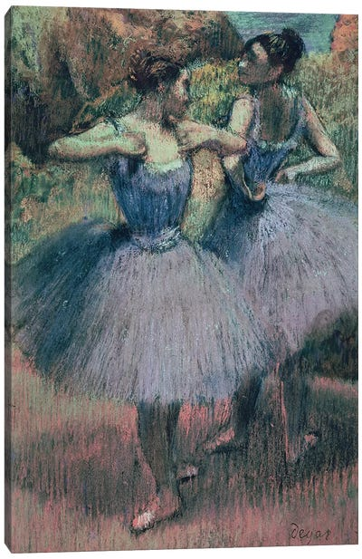 Dancers in Violet  Canvas Art Print