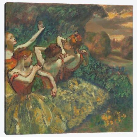 Four Dancers, c.1899  Canvas Print #EDG34} by Edgar Degas Canvas Art Print